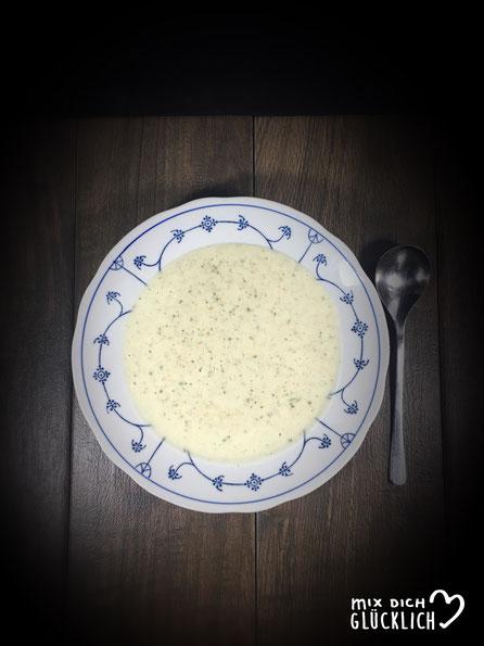 Cremige Grünkernsuppe aus dem Thermomix vegan