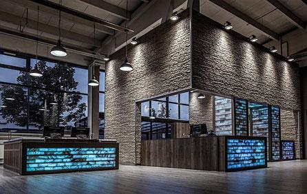 Neues Shop Design in den Hallen von boesner GmbH, Leinfelden-Echterdingen