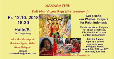 Navarathri Yagna Puja - Wünsche für Palu, Indonesien
