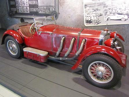 Een Mercedes-Benz SSK uit 1929, te zien in het Louwman Museum in Den Haag.
