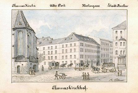 Hier ging 1750 in Leipzig die Post ab