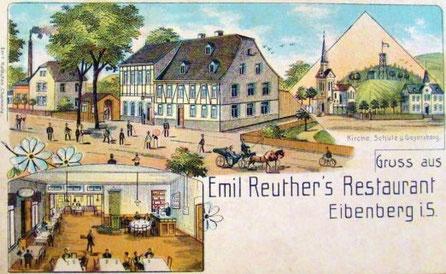 Um 1900 auf einer alten Ansichtskarte