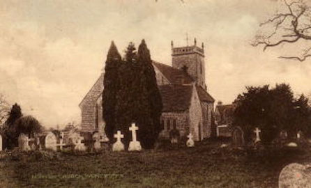 St. James' Church Norton-juxts-Kemspey before the extension was added.