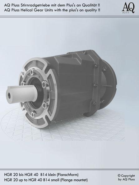 Getriebe » Stirnradgetriebe » Stirnradgetriebe ohne Motor » B14 kl Flanschform