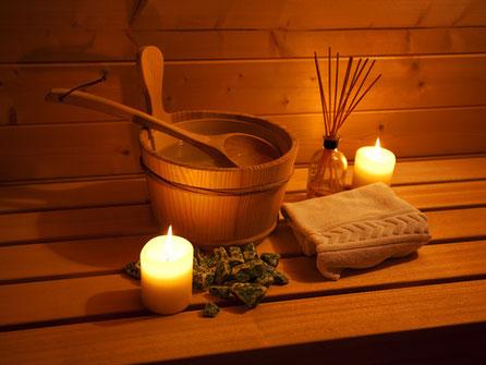 Entspannen im Saunabereich