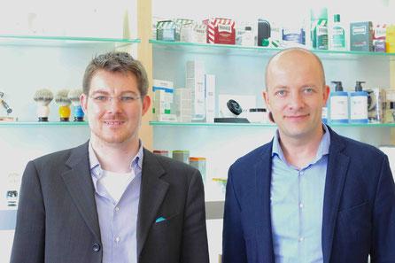 Andreas Müller (rechts) und Men's Individual Fashion Gründer Christian Frosch (links). Photo: Men's Individual Fashion.