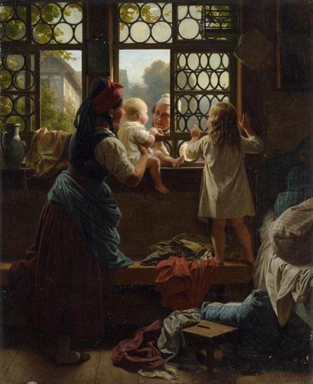 """Adiós papá"" de Friedrich Eduard Meyerheim"