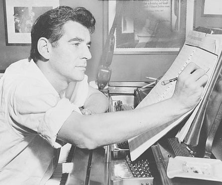 Leonard Bernstein Library of Congress. New York World-Telegram & Sun Collection 1955 Photographer: Al Ravenna