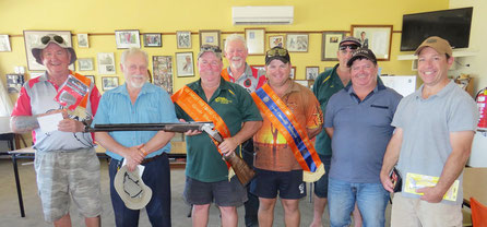 L - R:  Victor Bowman, Barry Ellis, Paul Weygood, Colin Kneebone, Brodie Seccull, Marc Connell, Allan Seccull, David De Maria.