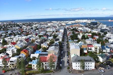 Blick auf Reykjavik von der Hallgrimskathedrale