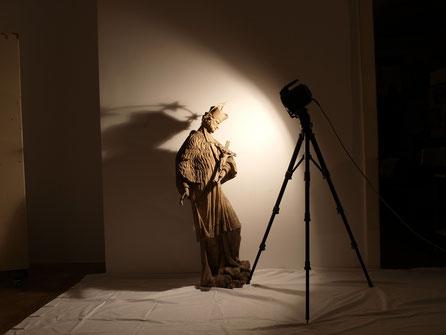 Johannes Nepomuk-Statue vom Haus Sobieskiplatz 5 im Religionsraum des Bezirksmuseums Alsergrund (ALSEUM)