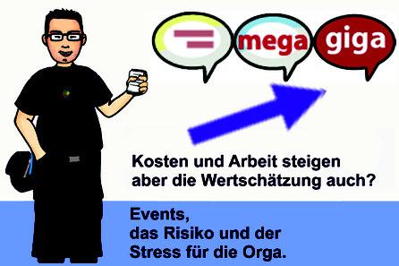 Titelbild: Events, das Risiko und der Stress für die Orga.