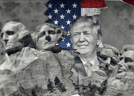 Trump im Mount Rushmore