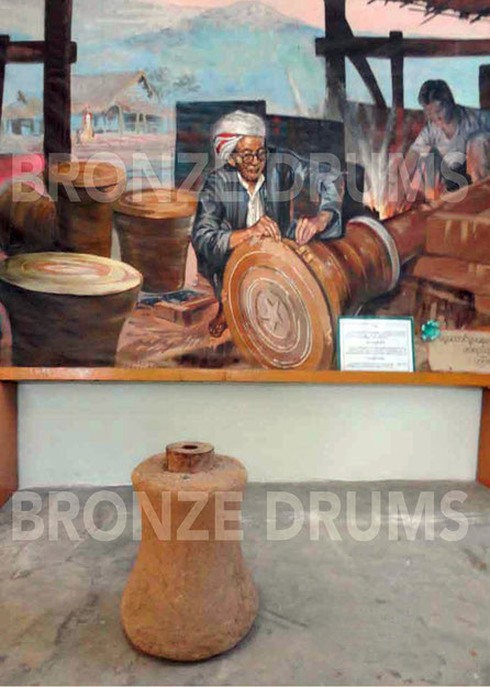 Fig. 1. Making the last drums near Loikaw (Khayah Provincial Museum)