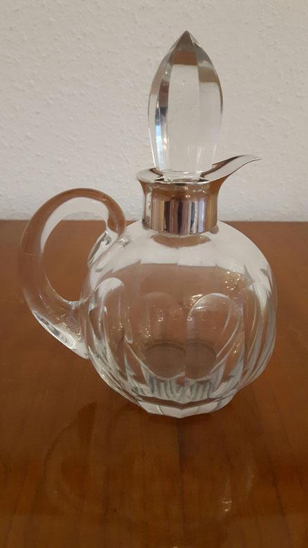 Kristallkaraffe Essig Öl 925er Silber