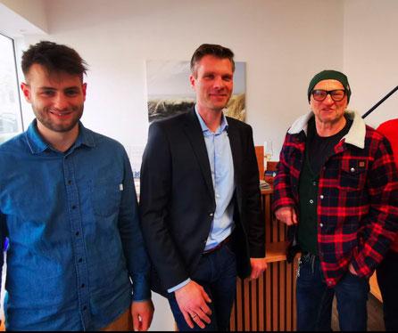 Lukas Kerkering, Ingo Fennen, Titus Dittmann, Jan-Bernd Althoff (v.l.)