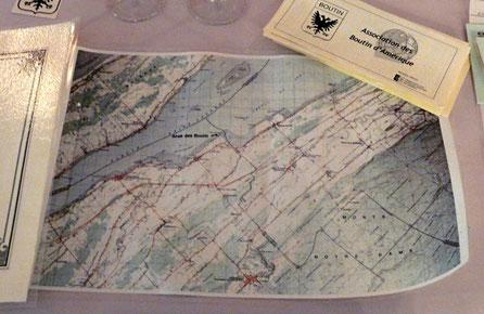 Carte de l'anse des Boutin, fleuve St Laurent