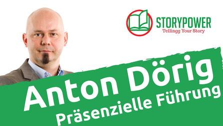"""Anton Dörig: Interview zu seinem Buch """"Chefsache Präsenzielle Führung"""" bei StoryPower/Ludwig Lingg"""