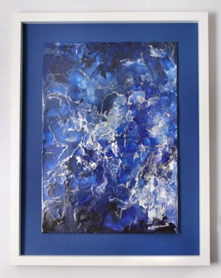 Deep Blue Sea - Encaustic Wax Painting - by Anne Berendt