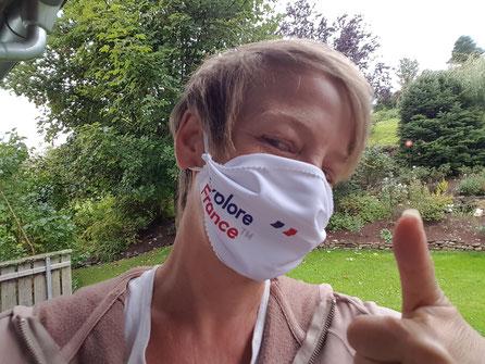 Stefanie Spengel mit Explore France Gesichtsmaske