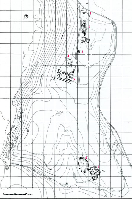 Kourion (Curium) : Plan du site archéologique