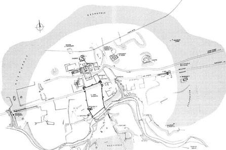 Haïdra (Ammaedara) : Plan du site dessiné par J.-C. Golvin et Y. Junius