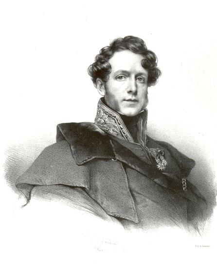 Jacques Boucher de Perthes / gravure de Grevedon, 1831. Directeur des Douanes, 43 ans.