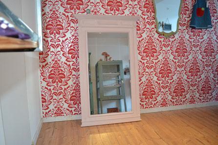 Antiker grosser Spiegel mit Annie Sloan Chalk Paint Antoinette gestrichen, Kreidefarbe und Möbel Nouvelle-Antique Aachen