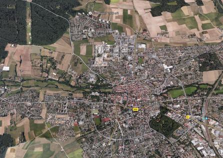 Satellitenaufnahme von Schwabach