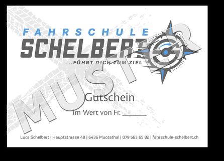 Gutschein Fahrschule Schelbert
