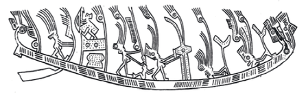 "Fig. 4. Example of ""scene"": dancers or warriors in boat"