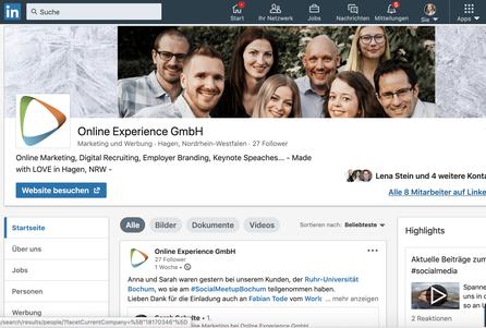 Unternehmensseite LinkedIn