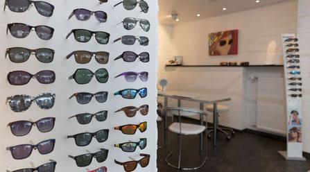Sonnenbrillen und Verkaufsraum