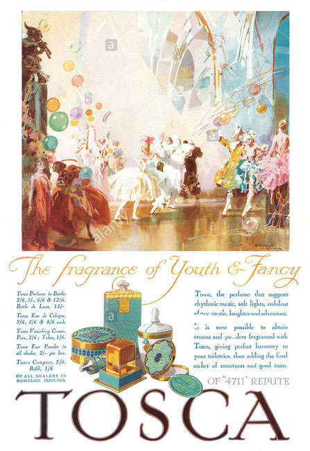 1929 : ANCIENNE PUBLICITE ANGLAISE  POUR TOSCA
