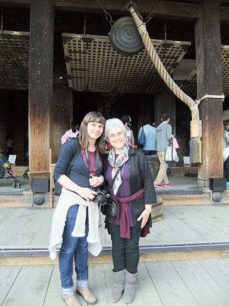 Mère et fille devant le Hondo !