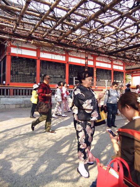Devant le Kyodo (salle des sutra) et sa pergola