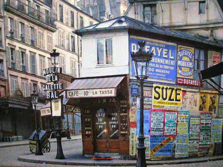 Moulin de la Galette, rue Lepic, Paris, 1914, musée Albert Kahn