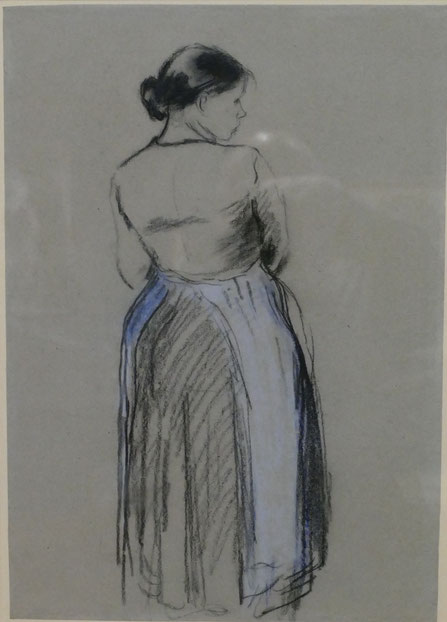 Camille Pissarro : femme vue de dos, 1885