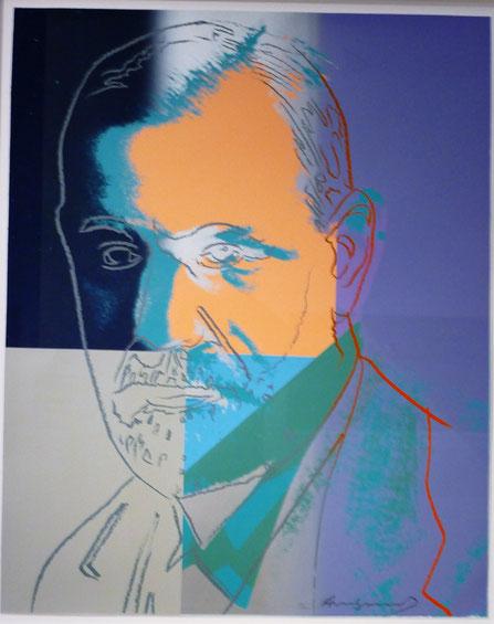 Sigmund Freud par Andy Warhol