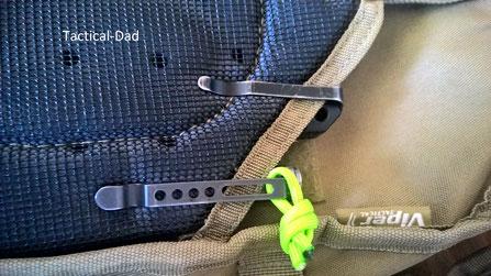 Ein No-Go: Sichtbare Clips durch die jeder Passant sofort weiß, dass man ein Messer trägt.