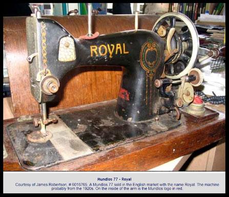 "# 6.016.765  "" ROYAL ""  Type 77  (from Needlebar)"