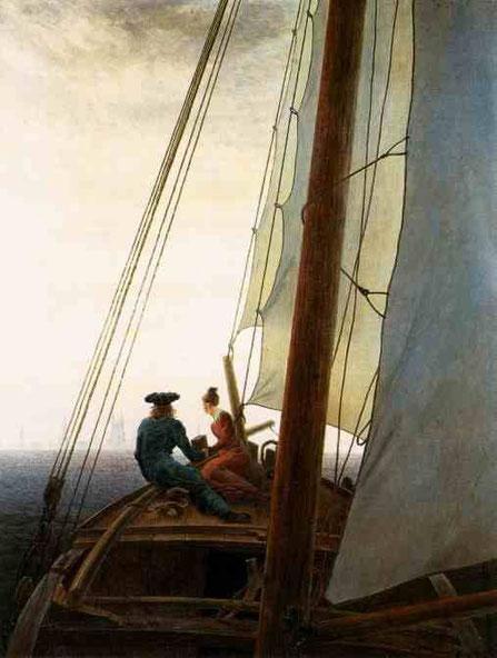 На парусной лодке. 1819