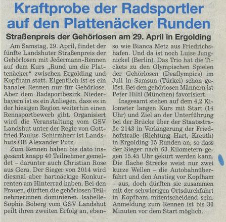 Quelle: Landshuter Zeitung 21.04.2017