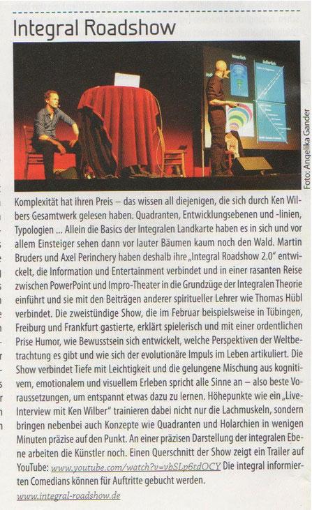 Zeitschrift Integrale Perspektiven 03/2011