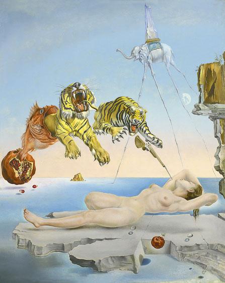 Самфе известные картины Дали - Сон, навеянный полетом пчелы вокруг граната за секунду до пробуждения