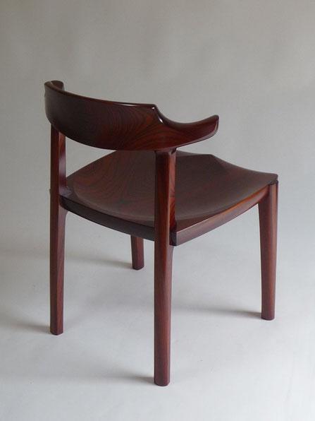 ダイニングチェア 木の椅子 欅 ケヤキ 漆 木工 家具 京都 古谷禎朗