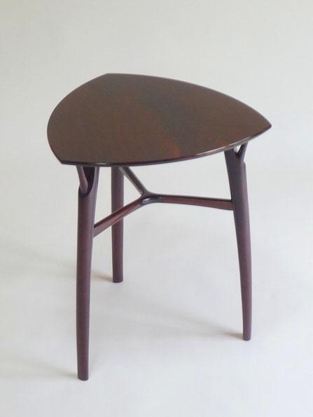 小テーブル ウォールナット 漆 木工 家具 京都 古谷禎朗