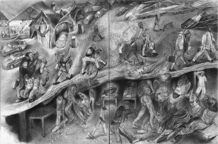 Matthias-Wyss-TAGESLICHT-DAYLIGHT-2011–2014-Pencil-On-Paper-22-x-44-Cm-2