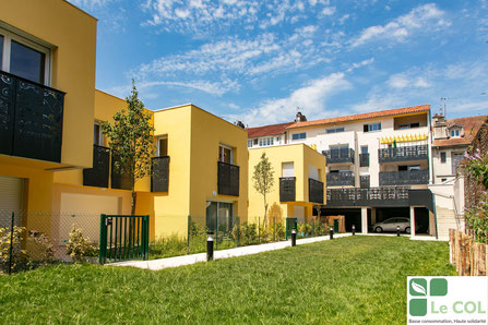 Projet d'habitat participatif Amassade vue du jardin - Rue Lespy - Pau - Accompagné par Faire-Ville. ©le COL