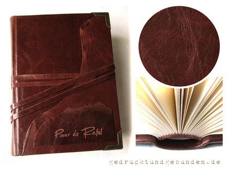 Gästebuch Ledereinband Hardcover Leder mit individueller Handgravur